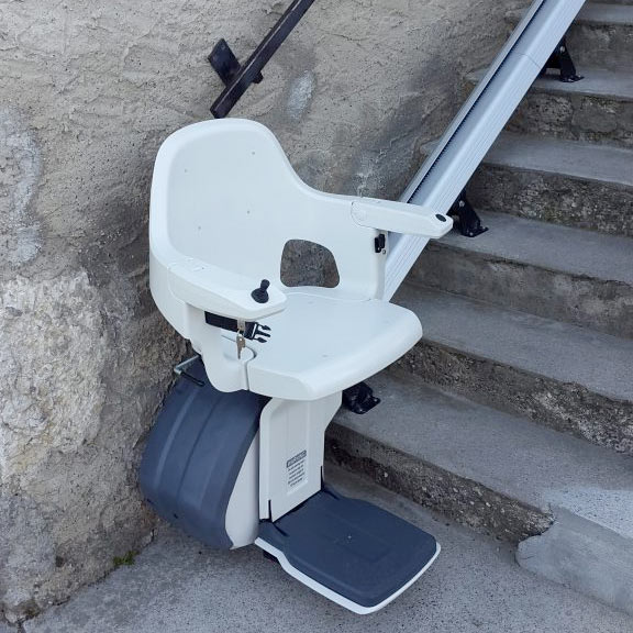 Siège monte escalier extérieur homeglide