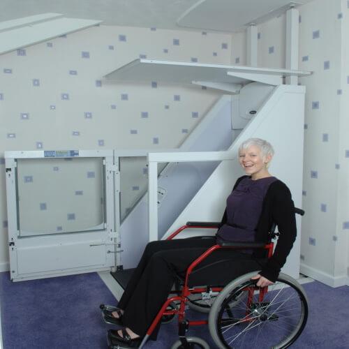Homelift wessex élévateur PMR sans structure cabine ouverte (1)