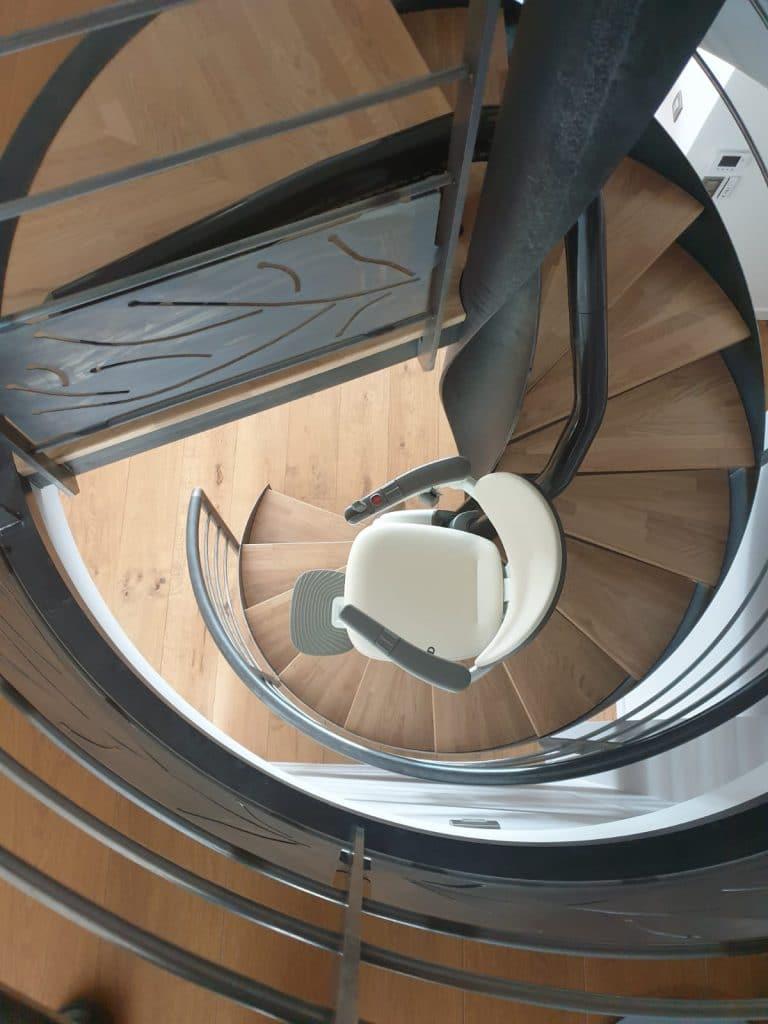 Siège monte escalier courbe Flow X